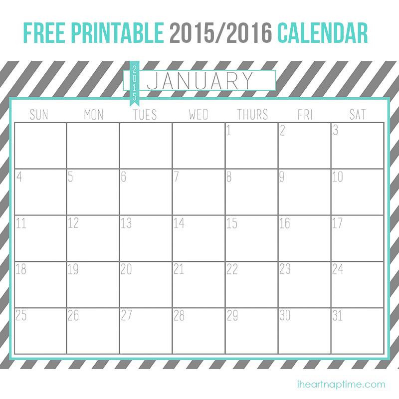 2015 Free Printable Calendars Com