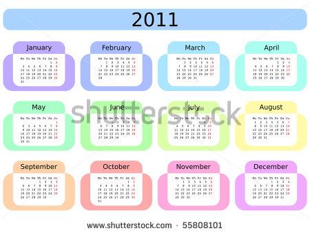 2011 Calendar with Week Numbers