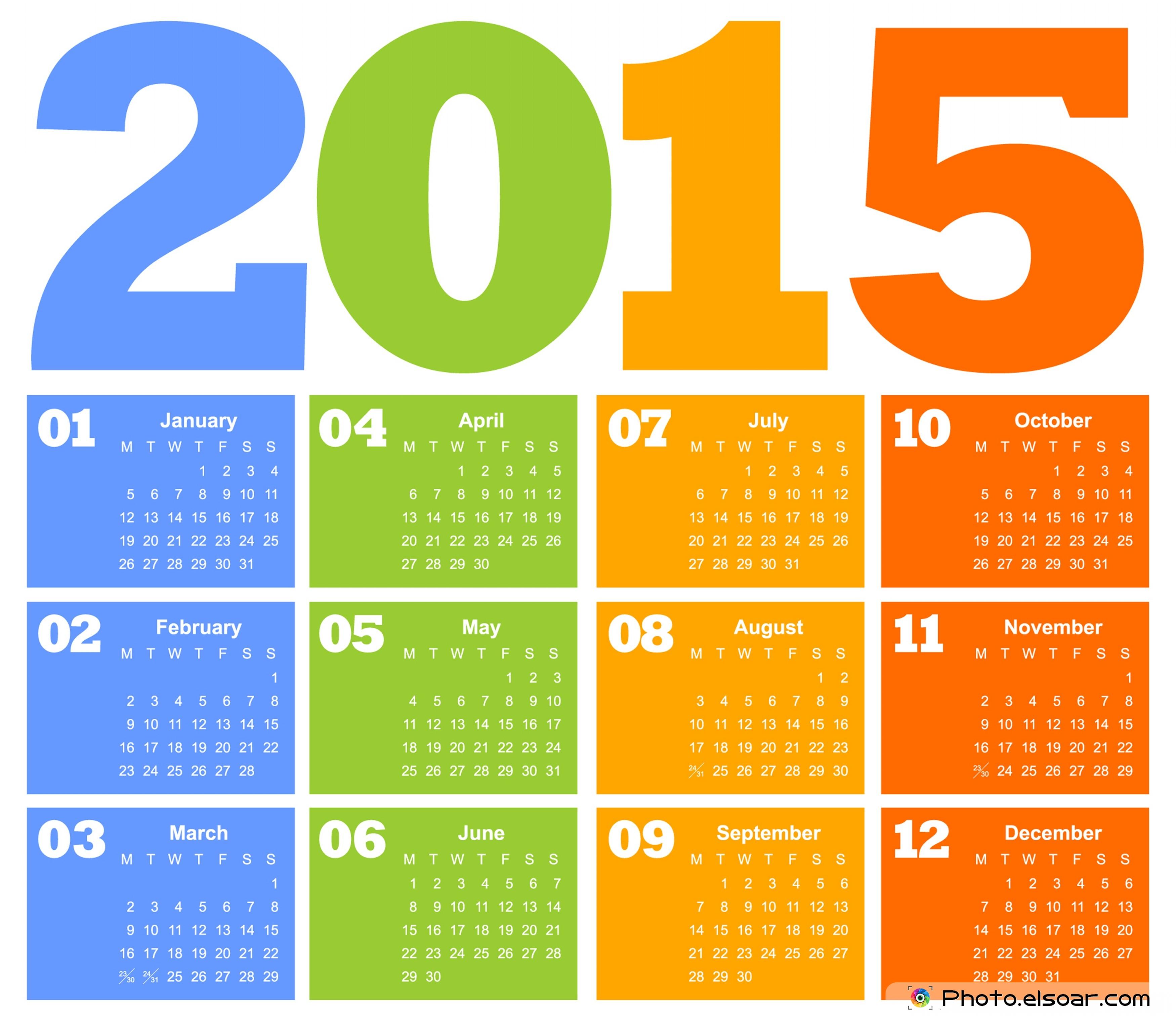 Design 2015 Calendar