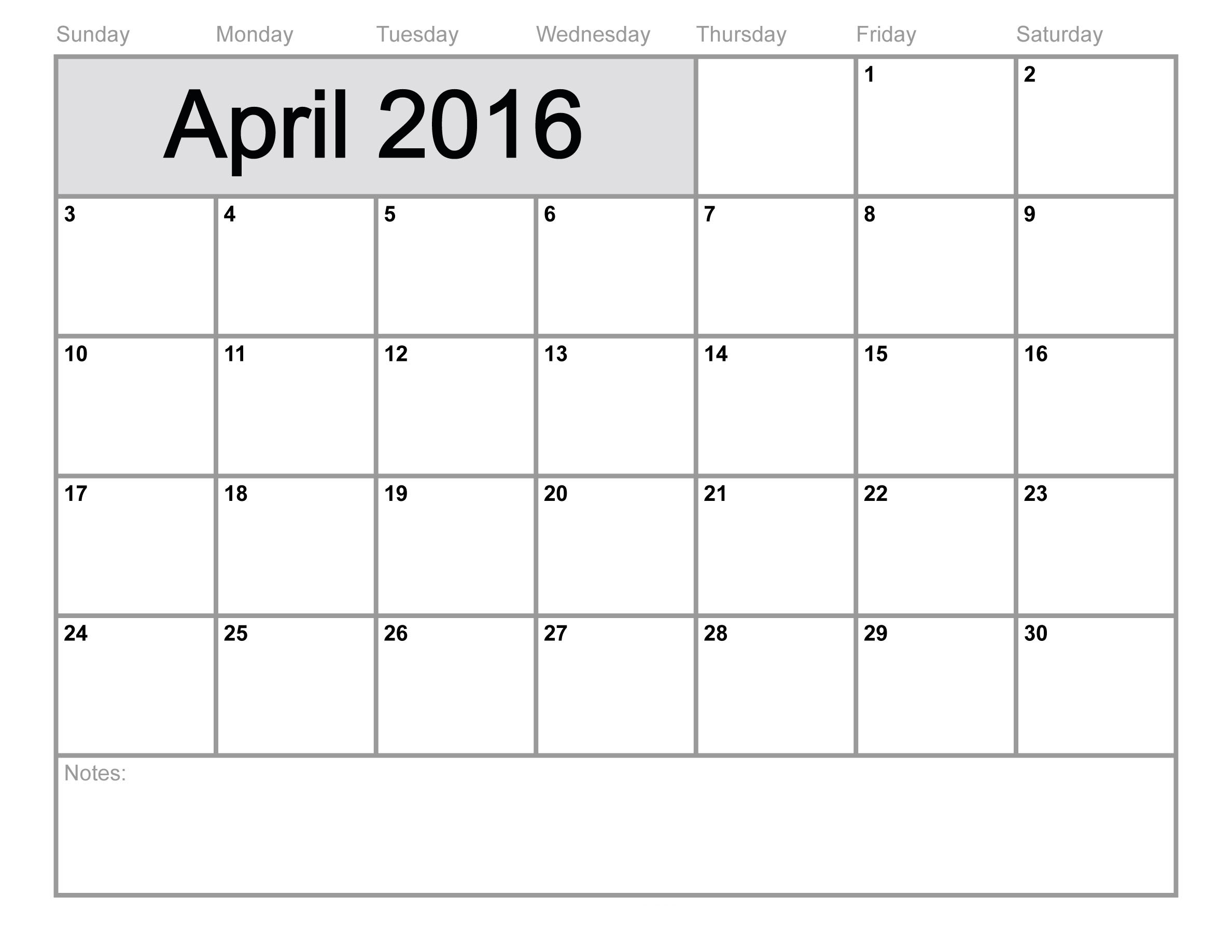 4 week calendar template
