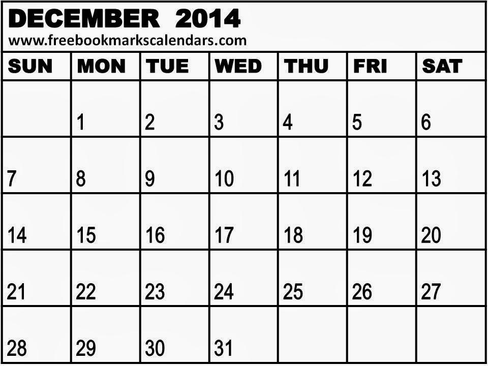 Blank Wall Month Calendar Template