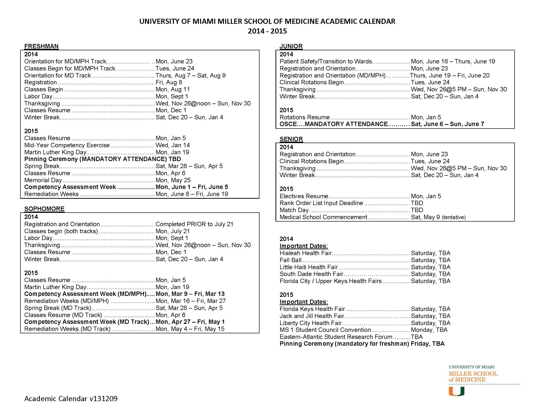 University of Florida 2014 2015 Academic Calendar
