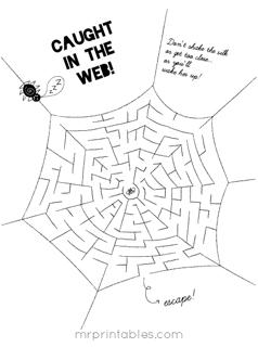 Free Printable Halloween Mazes
