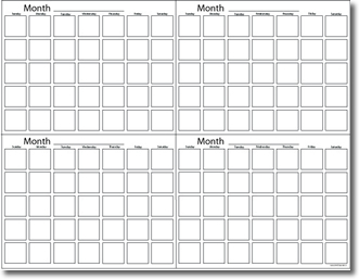 4 Month Calendar Printable Free