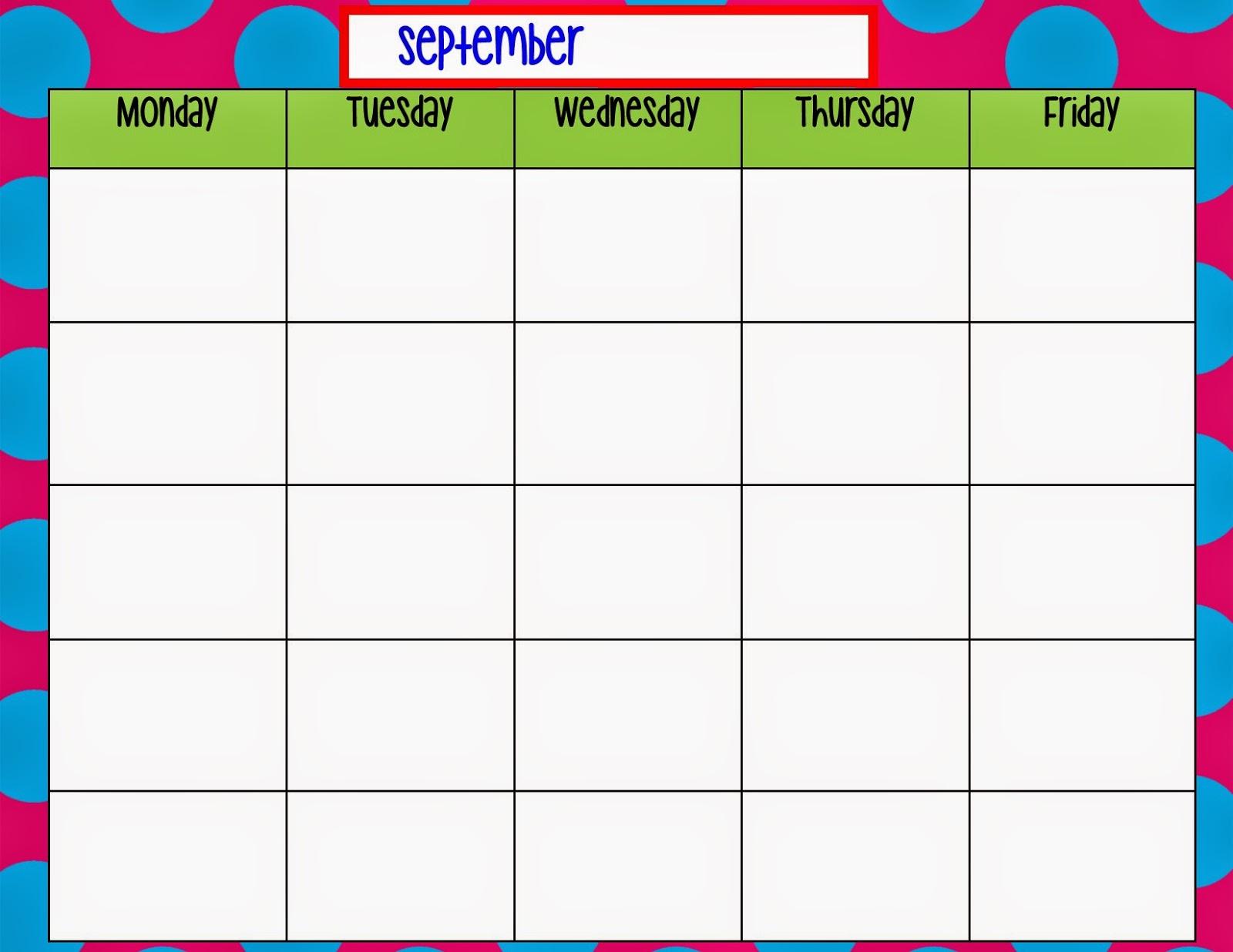 blank week calendar