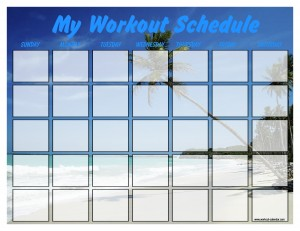 Printable Workout Calendar