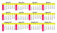500 Calendarios tipo tarjetas de presentación a color ambos lados