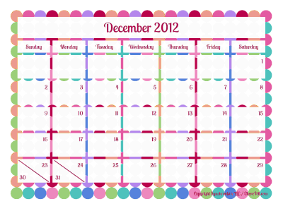 Free Cute Printable Calendar Templates 2016