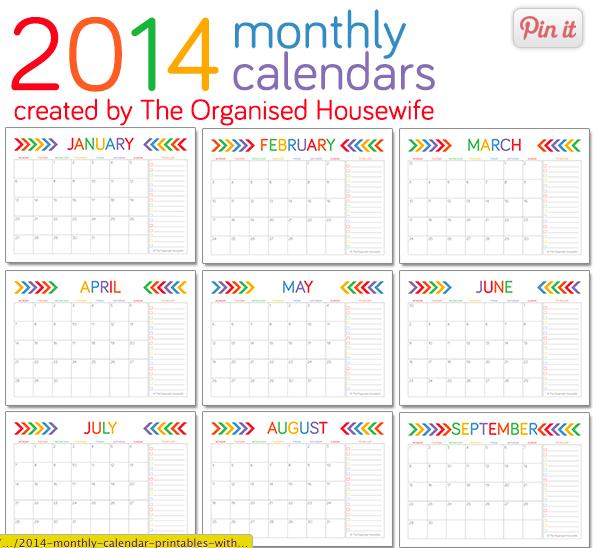 Free Cute Printable Calendar