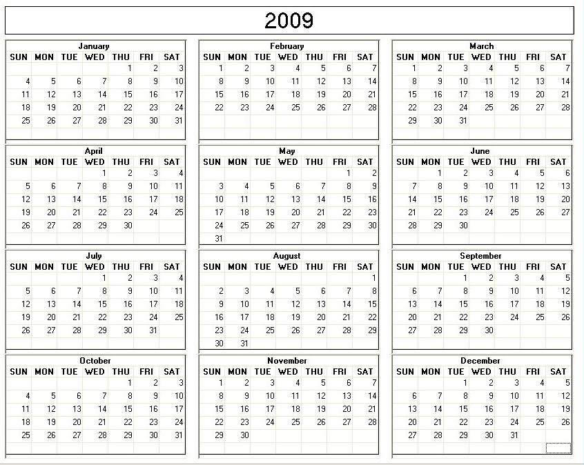 DepoProvera Perpetual Calendar 2016