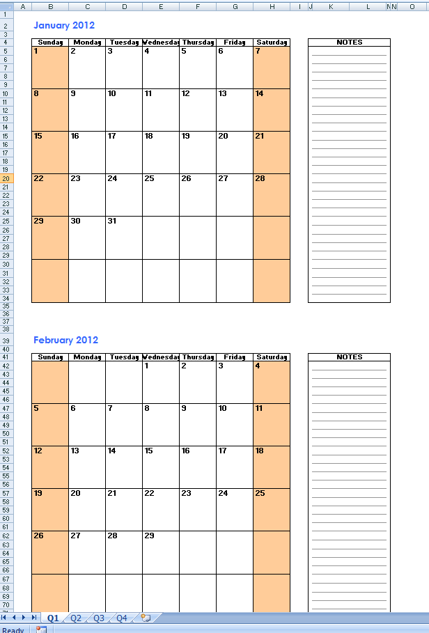 March 2015 Excel Calendar Template with Excel Monthly Calendar | Free