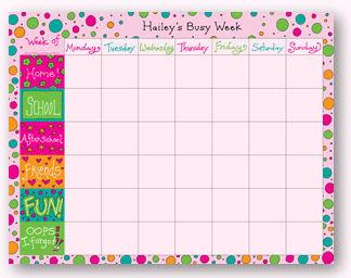 Free Printable Weekly Calendar Kids