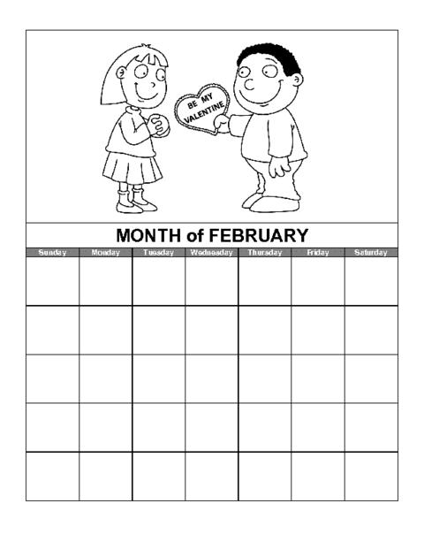 Education World Calendar February Template