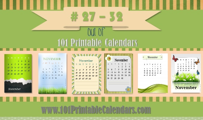 free printable 2015 monthly calendars november