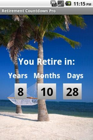 Free Retirement Countdown Calendar