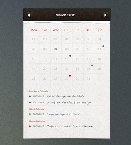 Free Psd Calendar Planner