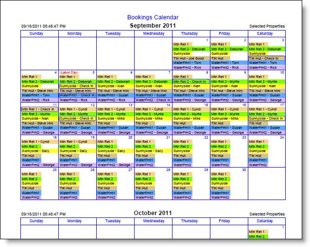 Excel Booking Calendar Template Shefftunes