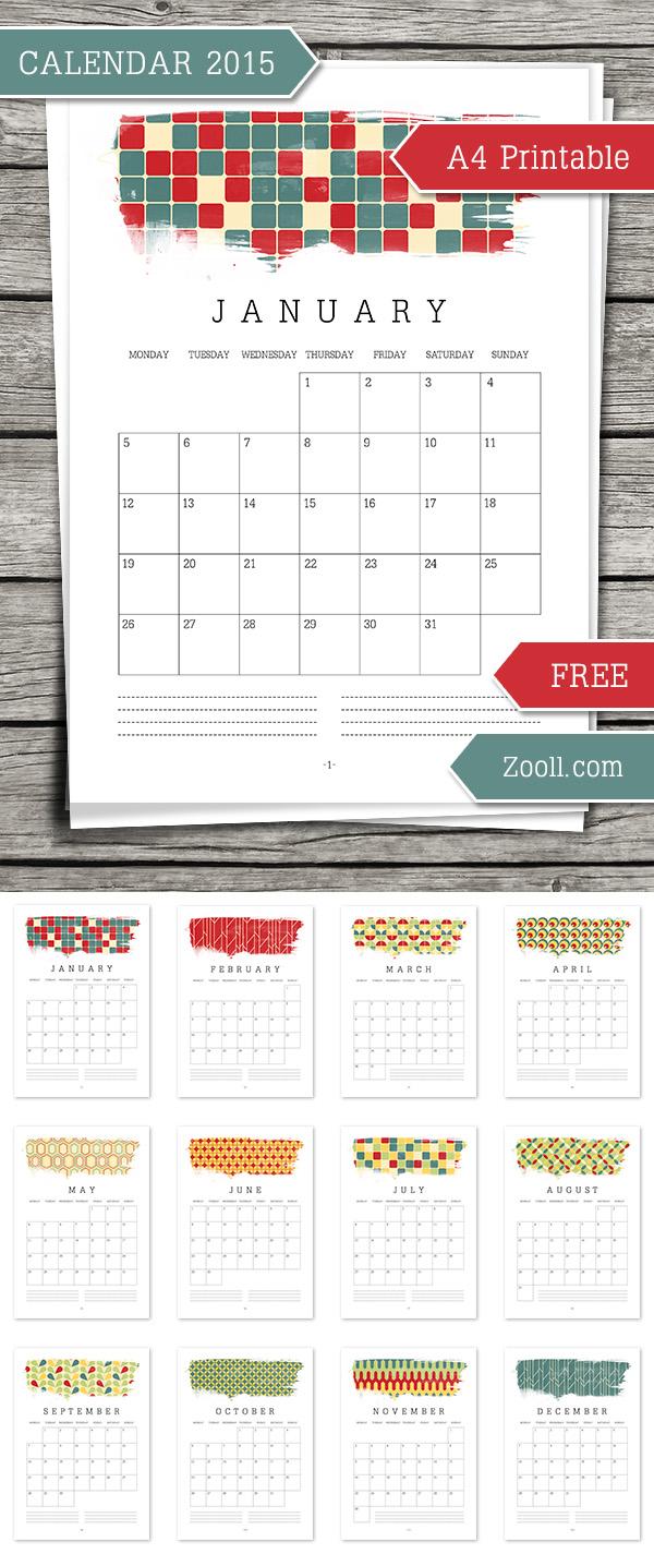 2015 Calendar Printable