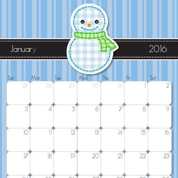 2016 Calendar Printable Imom