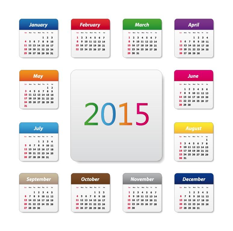 Julian Date CalendarYear 2015