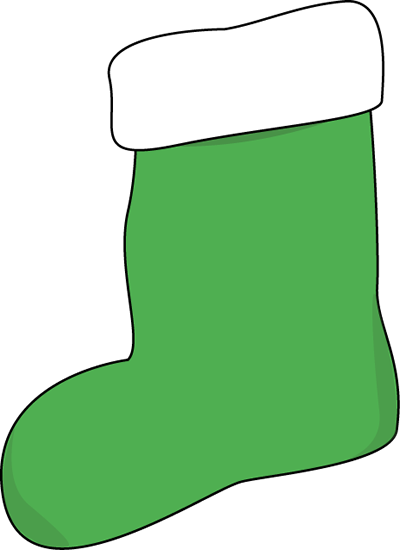 Green Christmas Stocking Clip Art