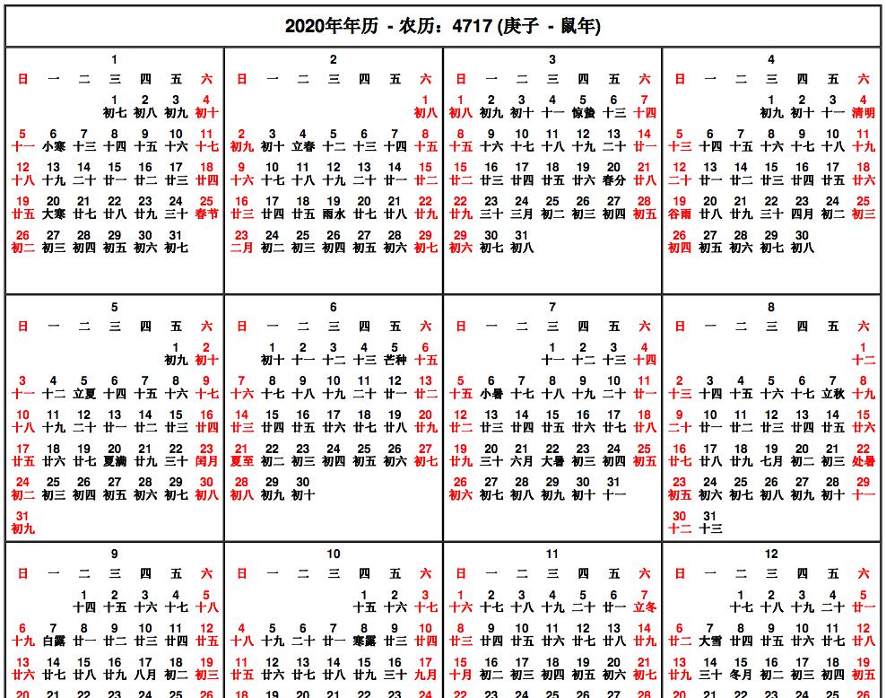 Chinese Lunar Calendar 2015 Printable