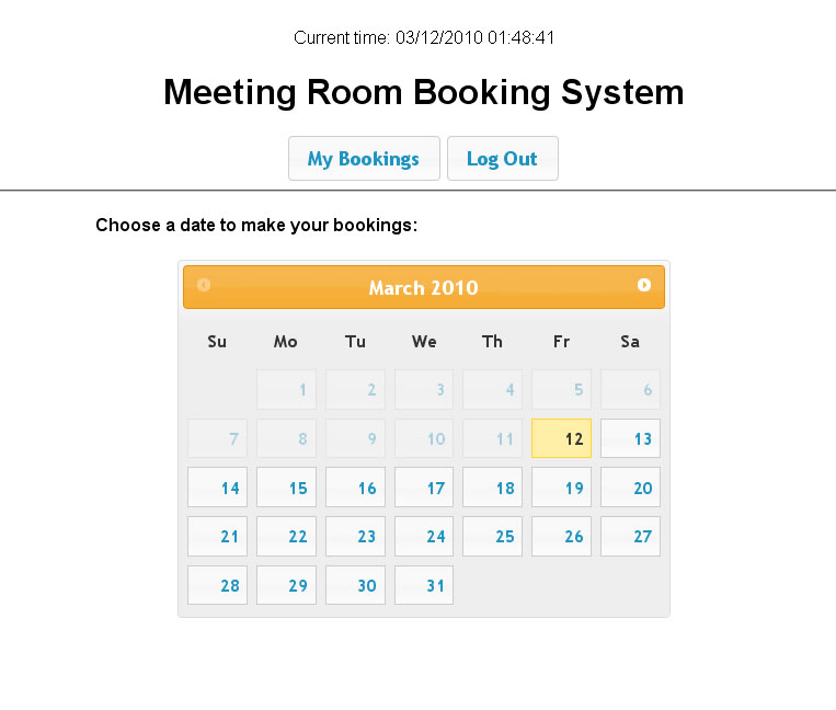 Meeting Room Booking System 2  PHP Scripts | CodeCanyon
