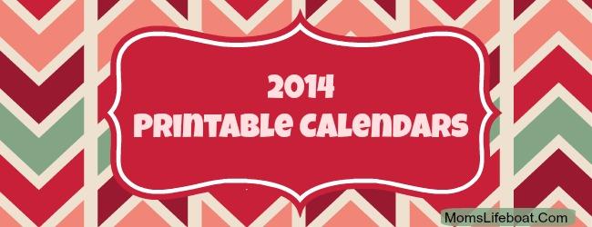 2014 Calendar Printable Free