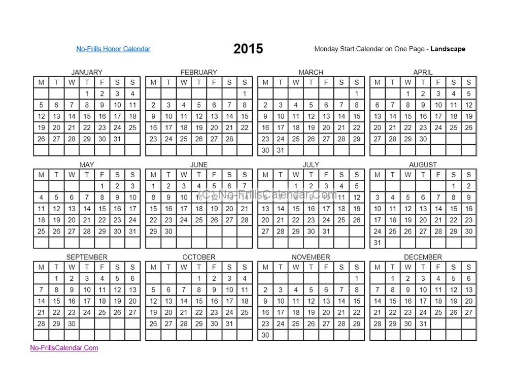 Annual Julian Date Calendar 2016