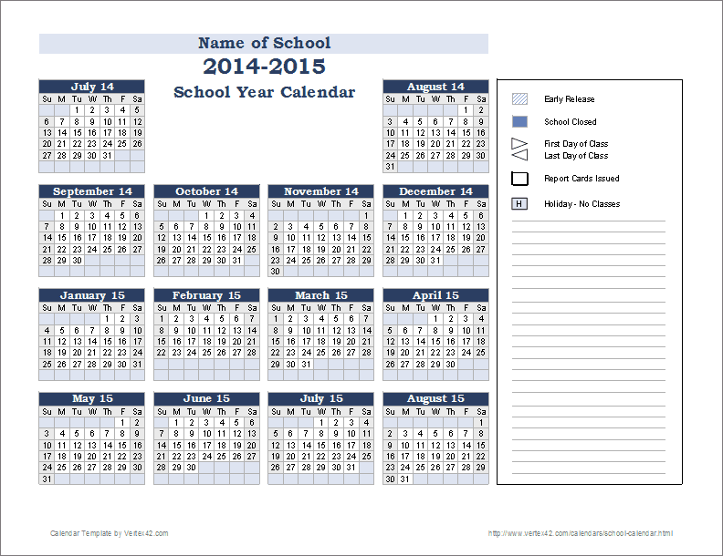 12 month calendar on one page