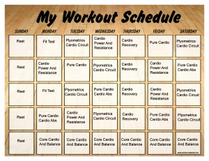 Insanity Workout Calendar Month 2