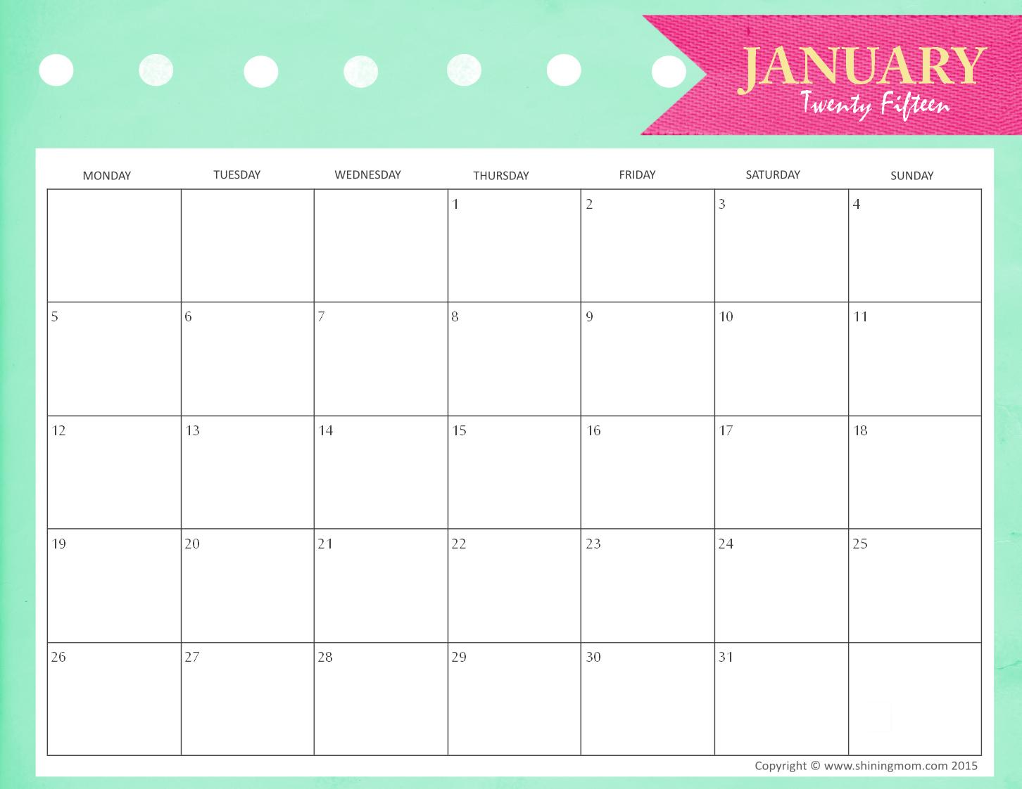Blank October 2014 Calendar