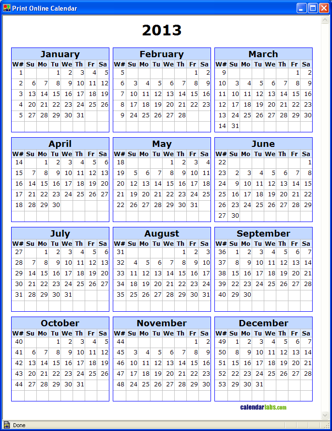 2016 Calendar Printable Free Planner Templates