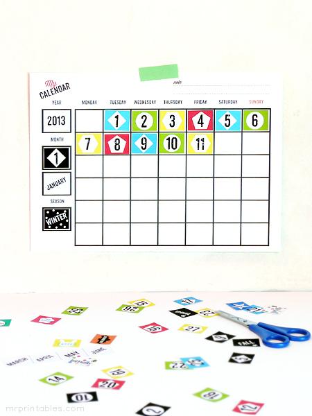 Free Printable Blank Kids Calendar