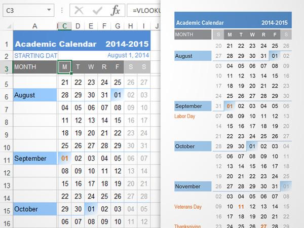 Continuous School Calendar Year 2015