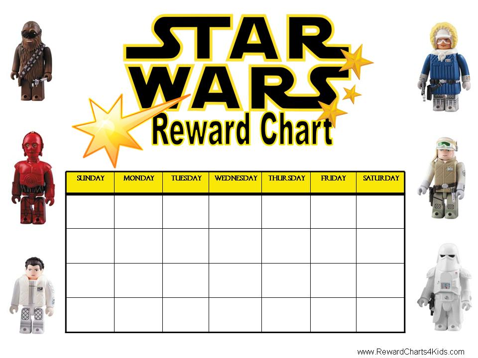 Star Wars Chore Chart Printable