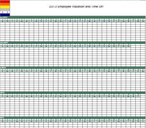 Employee Vacation Calendar Template 2016