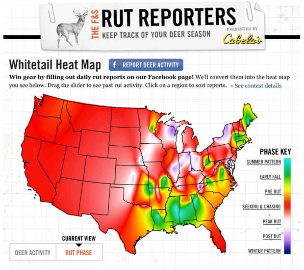 Whitetail Deer Rut Map