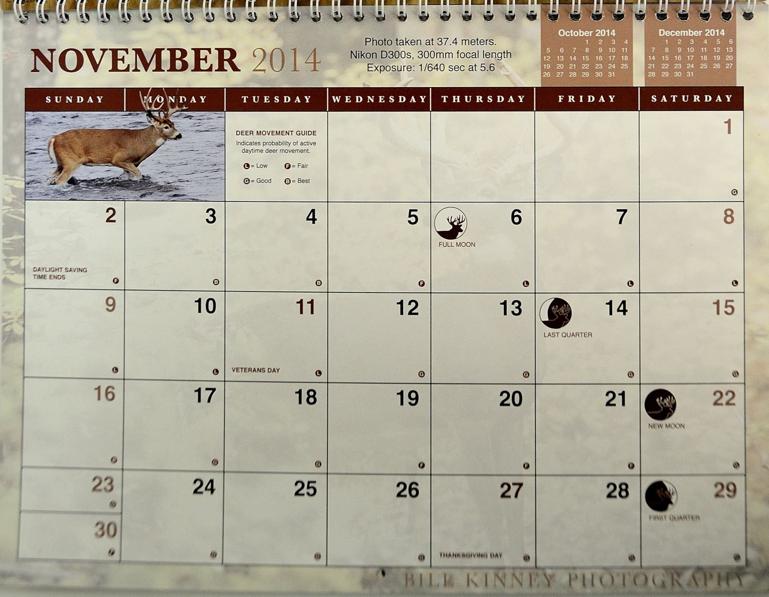 Deer Hunting Moon Phase Calendar 2015