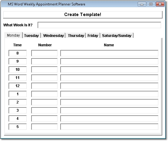 Appointment Calendar Templates To Customize | Calendar Template 2017