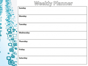 Weekly Appointment Planner Template