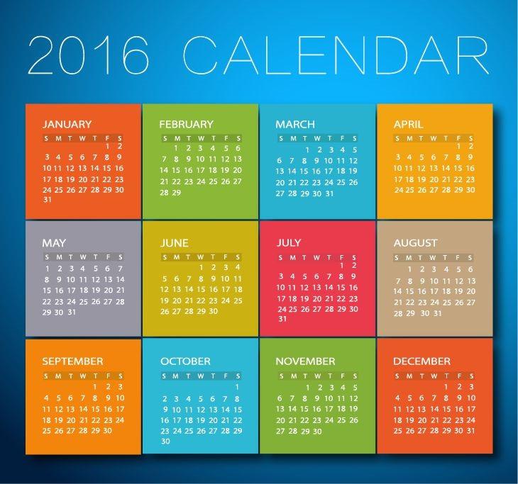 Graphic Design Calendar 2016
