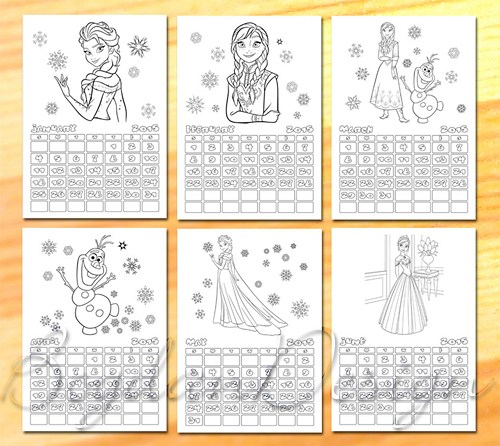 Disney Coloring Pages Printable Calendar
