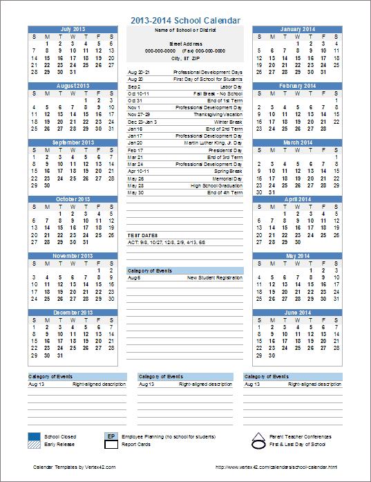 Printable Calendar Template with Time