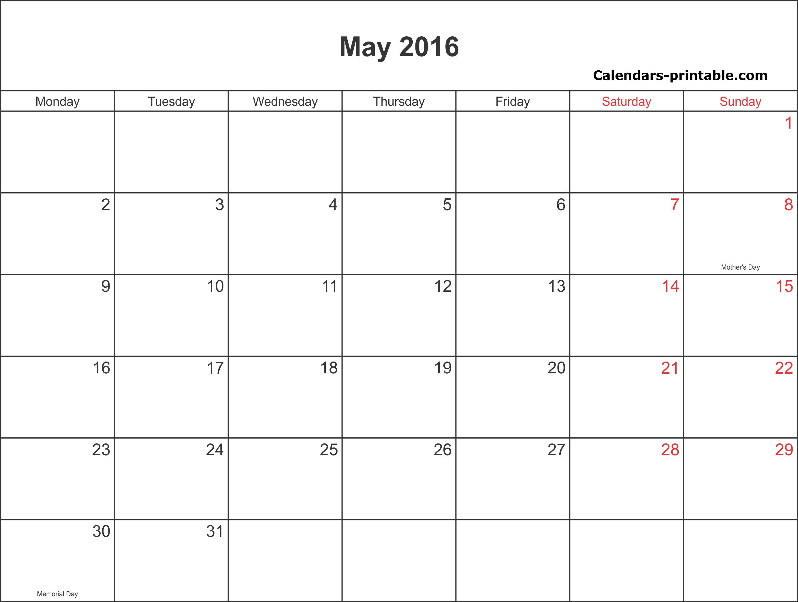 Editorial Calendar Sample