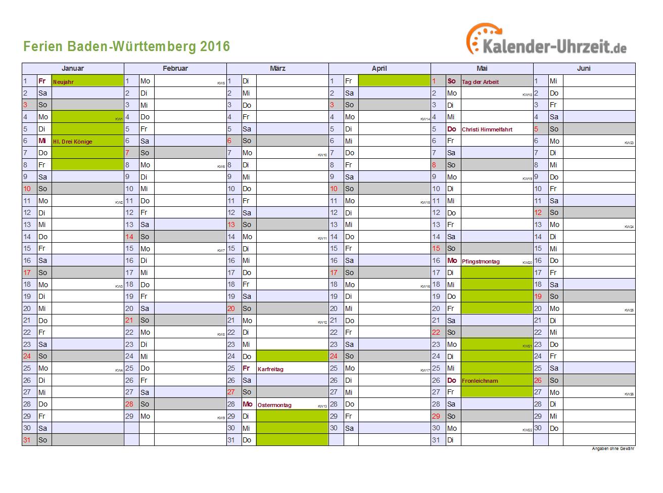 2016 2017 2018 Calendar