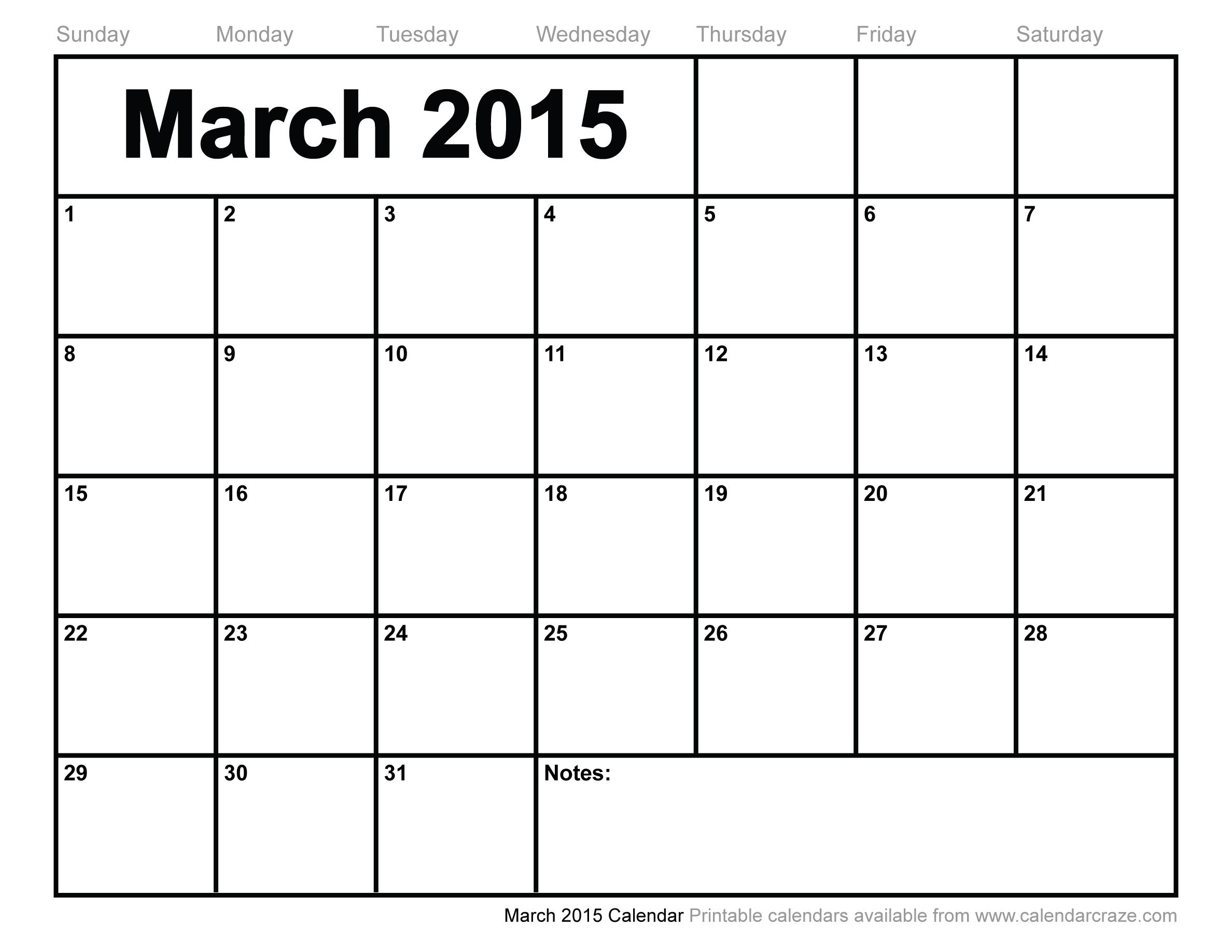 free blank monthly calendars
