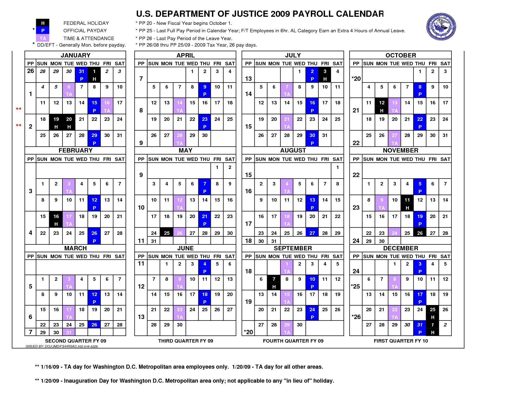 2015 Pay Period Calendar Federal Employees