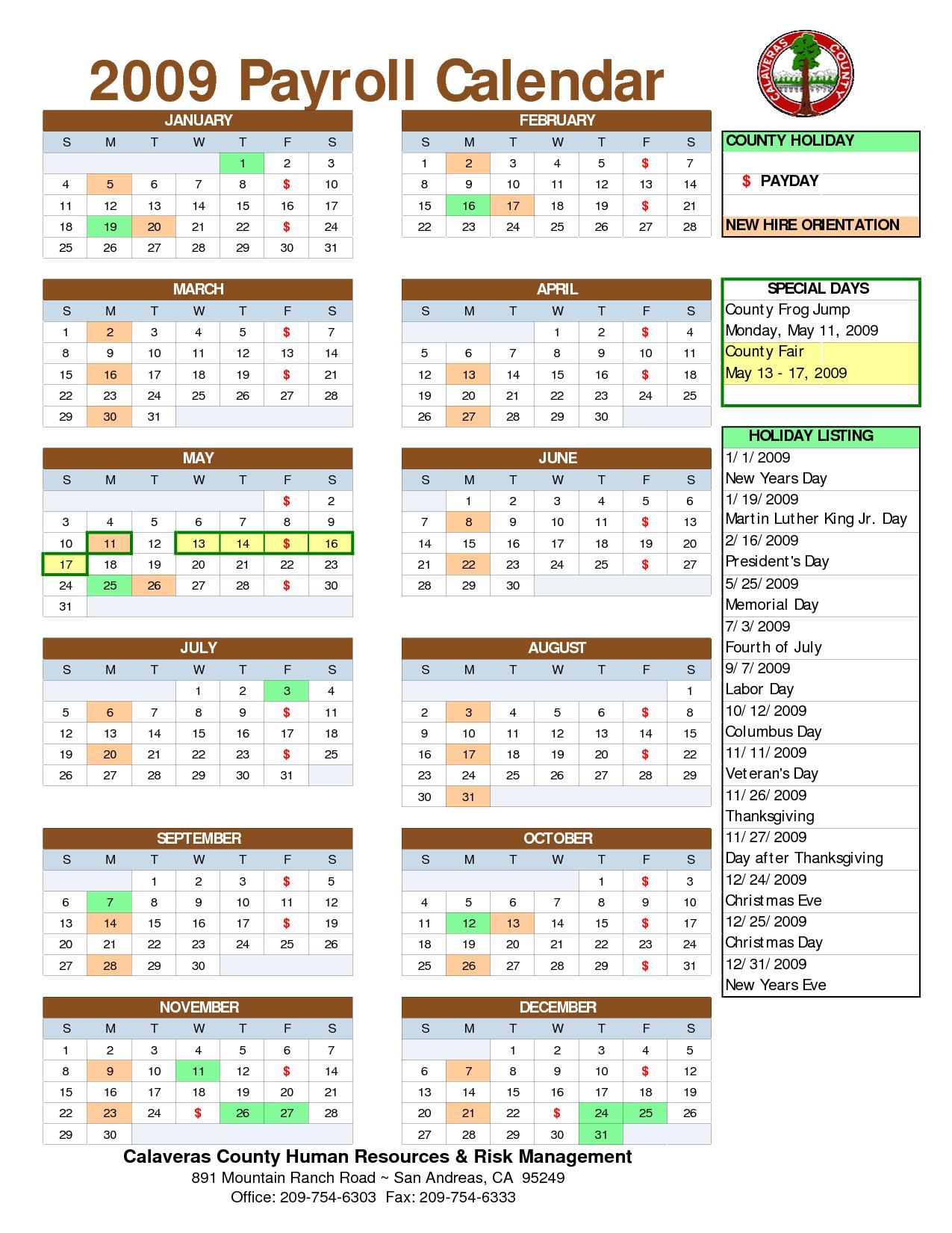 2014 Biweekly Pay Period Calendar