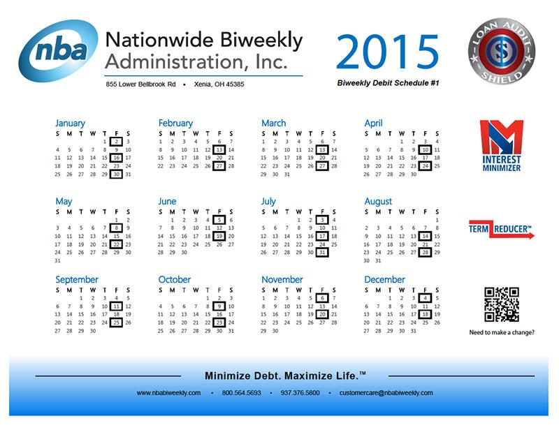 Biweekly Pay Calendar 2015